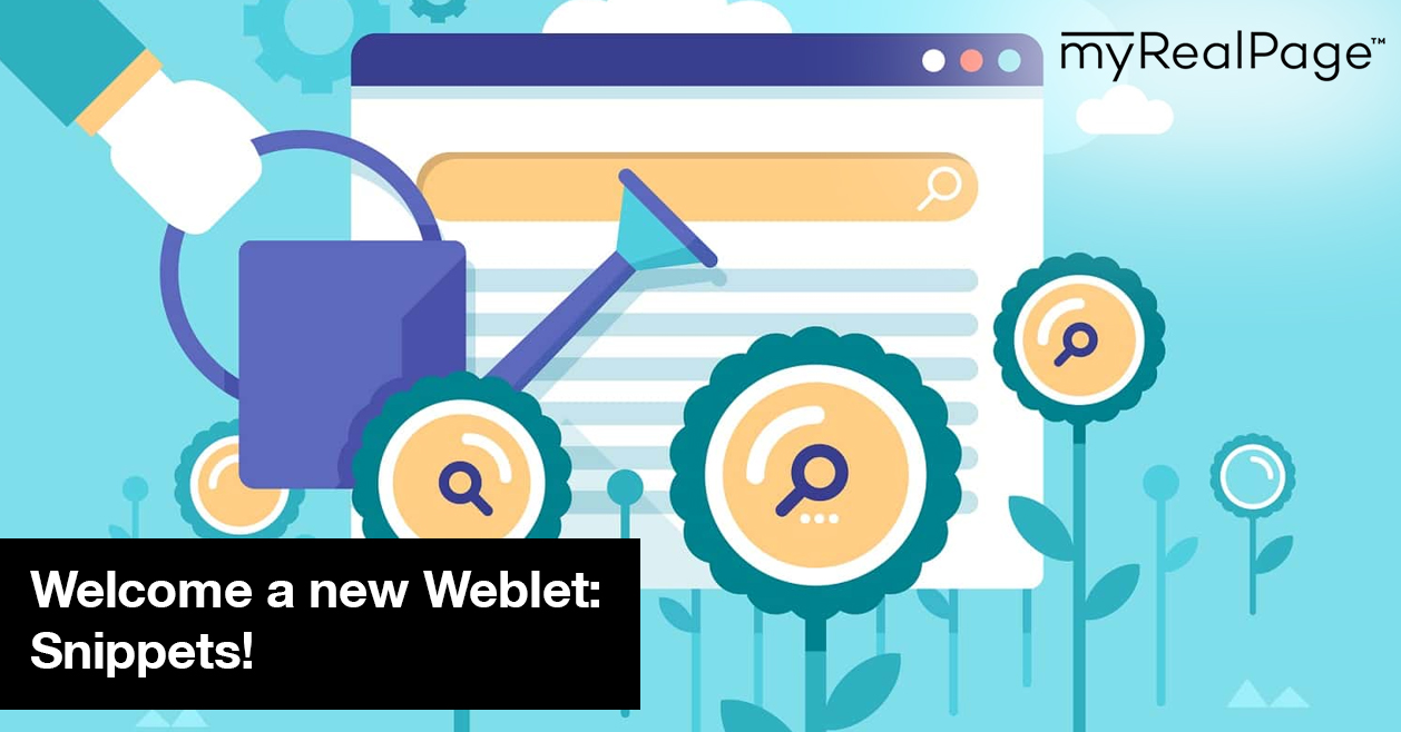 Welcome a new Weblet: Snippets!