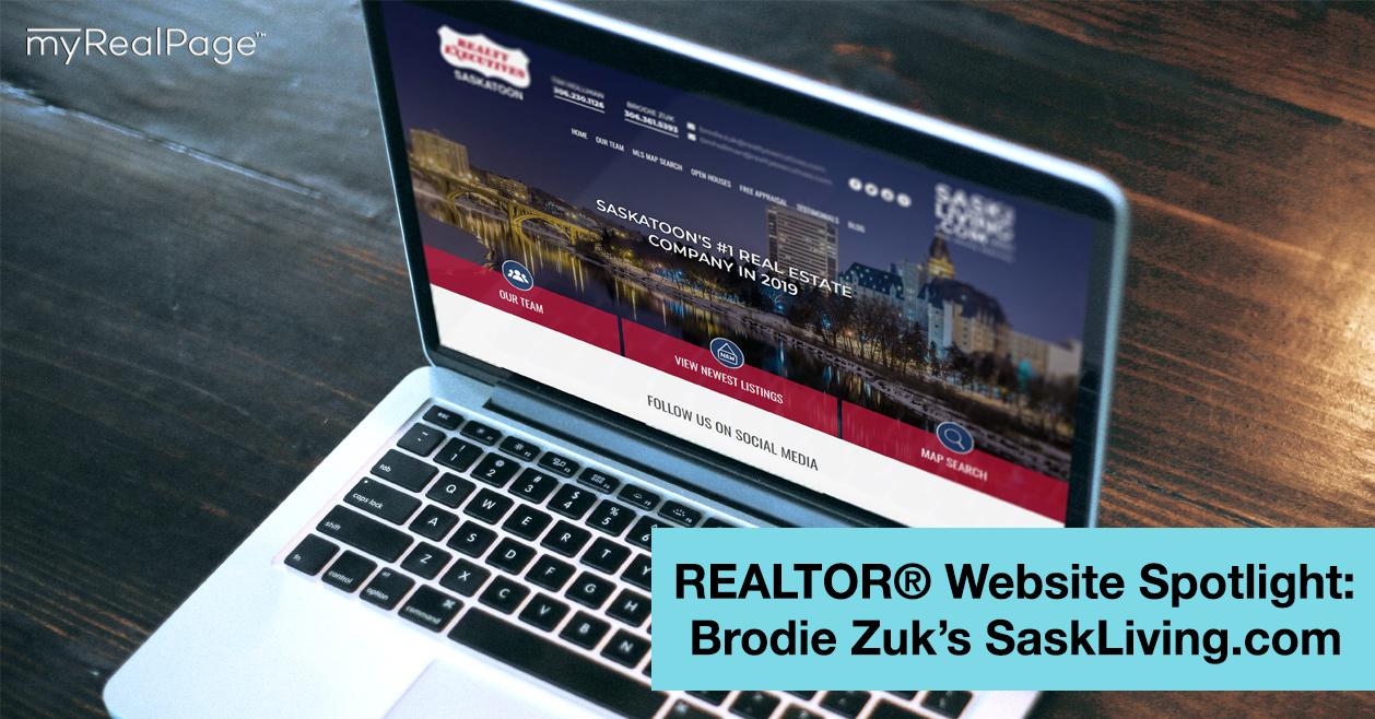 REALTOR® Website Spotlight – Brodie Zuk's SaskLiving.com