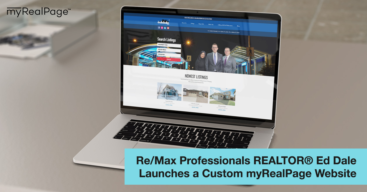 Re/Max Professionals REALTOR® Ed Dale Launches a Custom myRealPage Website