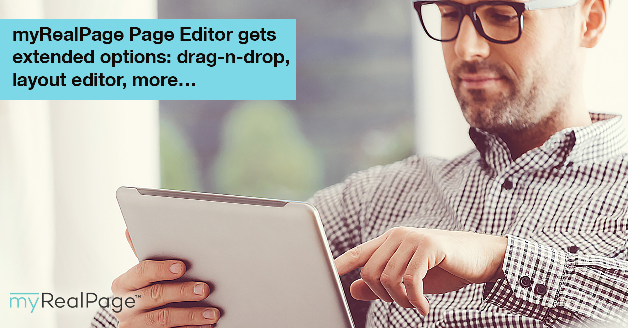 MyRealPage Page Editor Gets Extended Options: Drag-N-Drop, Layout Editor, More…