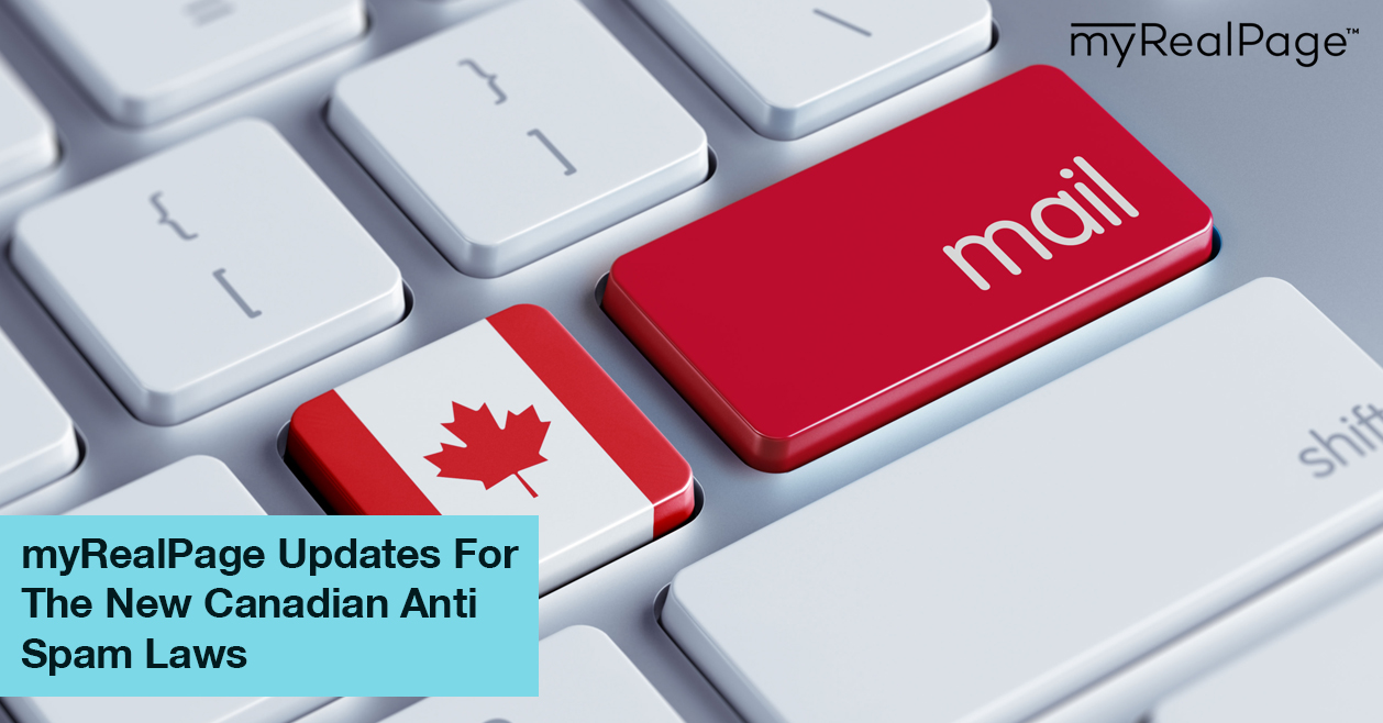 MyRealPage Updates For The New Canadian Anti Spam Laws