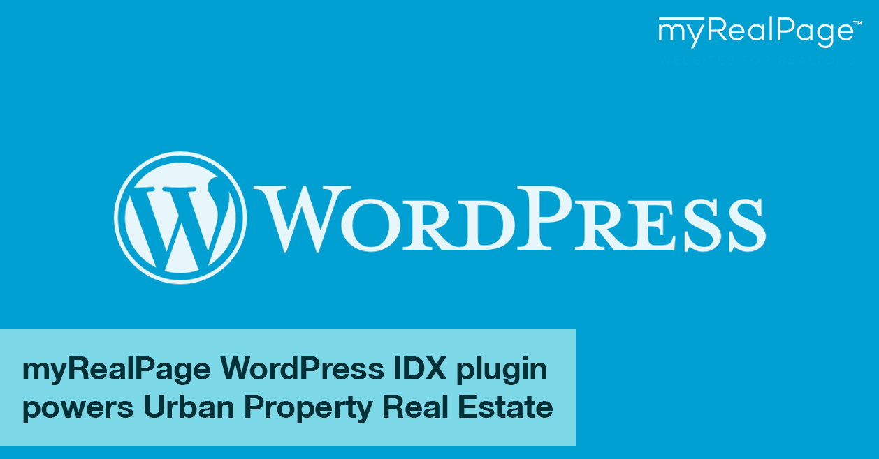 myRealPage Wordpress IDX plugin powers Urban Property Real Estate