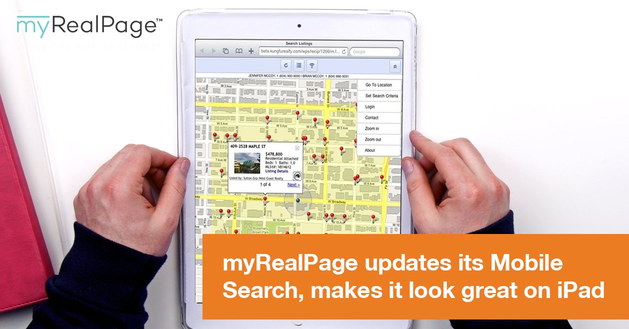 MyRealPage Updates Its Mobile Search, Makes It Look Great On IPad